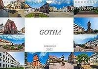 Gotha Impressionen (Wandkalender 2022 DIN A4 quer): Zu Besuch in der wunderbaren Stadt Gotha (Monatskalender, 14 Seiten )