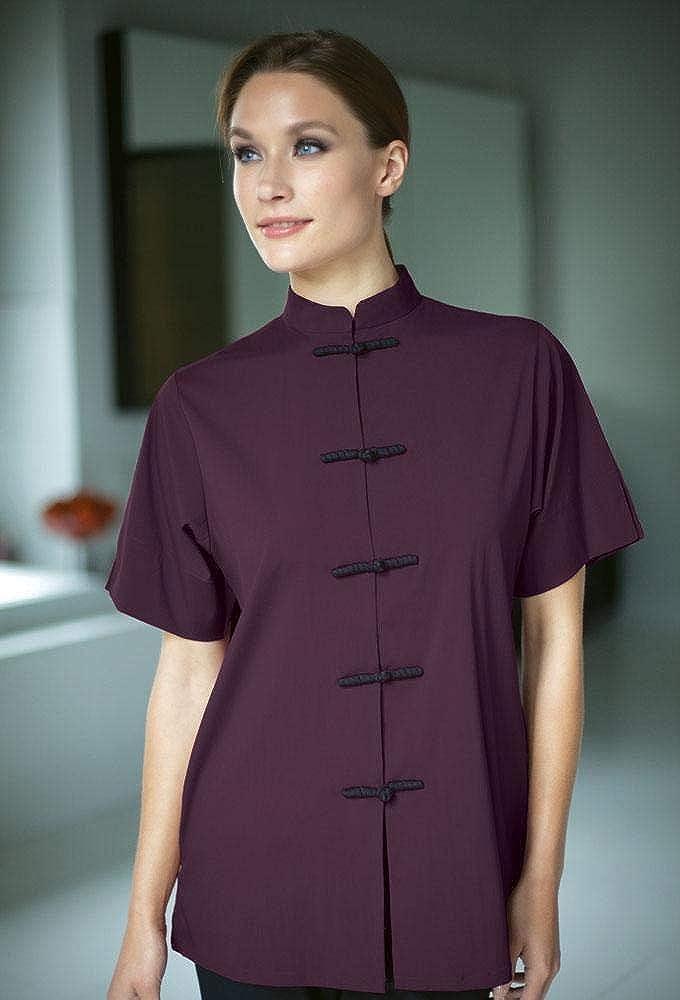 Spa Salon Uniform for Women, Plus Sizes, Frog Closure Stylist Uniform Tunic