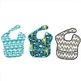 SALUTUYA Toalla Babero para alimentación del bebé, Material de poliéster Impermeable, Linda impresión Personalizada, Suministro para bebés(3)