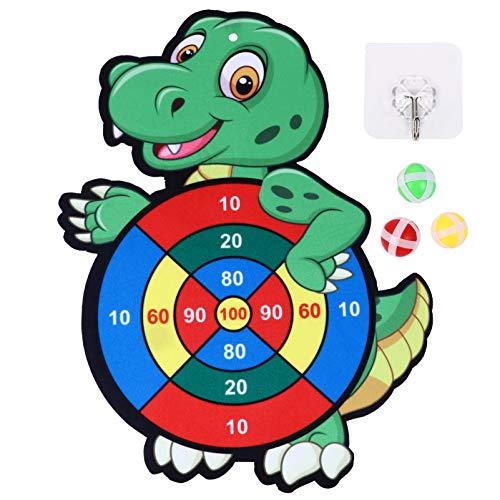 BESPORTBLE Soft Dart Set Klett Dartscheibe Klettbälle Krokodil Dart Board zum Aufhängen für Kinder Jungen Mädchen inkl. 3 Bälle 1 Brett und Haken Innne Outdoor Party Spaß Spielzeug