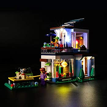 Briksmax Led Lighting Kit for Modular Modern Home - Compatible with Lego 31068 Building Blocks Model- Not Include The Lego Set