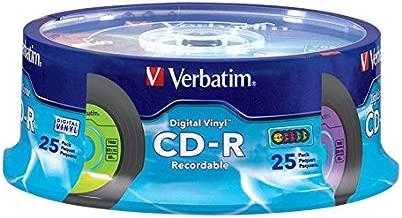 Verbatim CD-R 80min 52X with Digital Vinyl Surface - 25pk Spindle - 94488