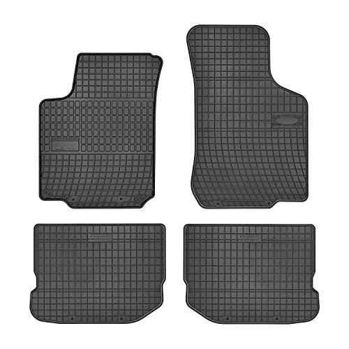 bester Test von automatten experts AME Car Mat Expert 0012EL Kante 1 cm, 4-teilige Gummibodenmatte