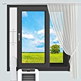 INOMO Portable Air Conditioner Sliding Window Kit with Universal Coupler Adapter, Upgraded Seamless Adjustable Sliding AC Vent Kit for Ducting Exhaust Hose of 5.1 Inches/5.9Inches