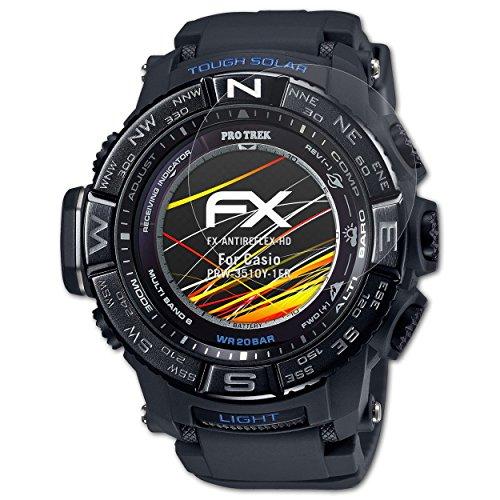 atFoliX Pellicola Proteggi per Casio PRW-3510Y-1ER Protezione Pellicola dello Schermo, Rivestimento antiriflesso HD FX Protettore Schermo (3X)