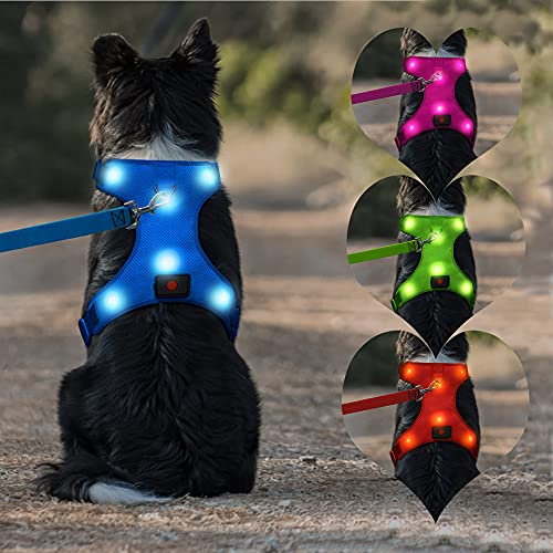 LED Dog Harness USB Rechargeable