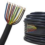 Cavo elettrico multipolare per automobile/rimorchio 5m, 10m, 20m o 50m selezione: 5m metri, 13 poli 13 x 1.5 mm² cavo tondo