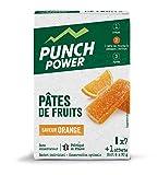 PUNCH POWER - Pâtes de Fruits - Orange - 8 pâtes de fruits x 30g - Glucides à assimilation rapide...