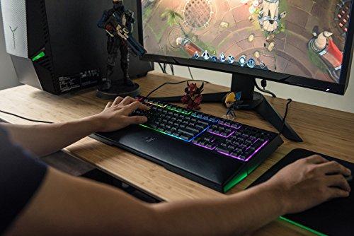Razer Ornata Chroma - Gaming Tastatur mit mecha-membranen Hybrid-Schaltern (Ergonomische Handballenablage, voll programmierbar, RGB Chroma) QWERTZ   DE-Layout, Schwarz