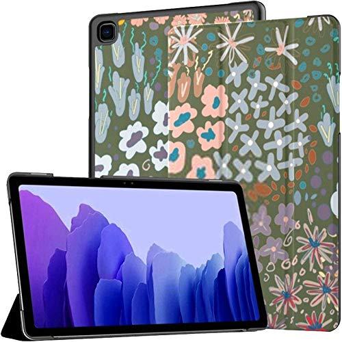 Funda para Samsung Galaxy Tab A7 Tablet de 10,4 Pulgadas 2020 (sm-t500 / t505 / t507), Linda Flor pequeña, Colorida, con Soporte de Varios ángulos y activación automática