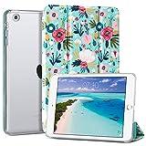 ULAK Funda para iPad Mini 1/2/3, [Serie Clásica] Carcasa Función de Despertador Automático Magnético y Sueño Smart Cubierta Trifold Soporte Caso para iPad Mini/iPad Mini 2/iPad Mini 3 - Flor Colorida