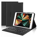 iPad Mini Keyboard Case Fit for iPad Mini 5/ Mini 4/Mini 3/Mini 2 & 1, Wireless Bluetooth Keyboard with Case, Folio Smart Leather Protective Cover, Thin & Light Weight Black