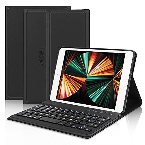 iPad Mini Keyboard Case Fit for iPad Mini 5/ Mini 4/Mini 3/Mini 2 & 1, Wireless Bluetooth Keyboard with Case, Folio Smart Leather Protective Cover, Thin & Light Black