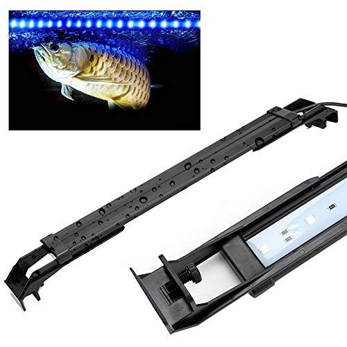 Semiter Luz de Soporte Colorida para Acuario Seguro Ajustable, luz de Soporte LED para pecera, 12 pecera monocromática para Acuario(#3)