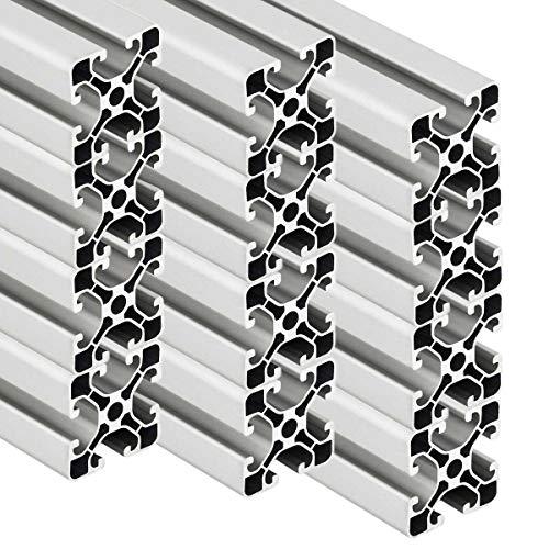 PremiumX 12 Stück 2000mm Aluminium Profil Aluprofil 40x40 mm Nut 8 Strebenprofil eloxiert 4040 Alu Konstruktionsprofil 2m