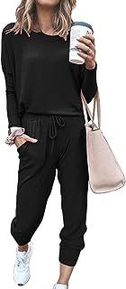 ORANDESIGNE Survêtement Femme Ensembles Sportswear Sweat Suit Pull avec Poches Casual Jogging Pyjama D'Intérieur Tenue Man...
