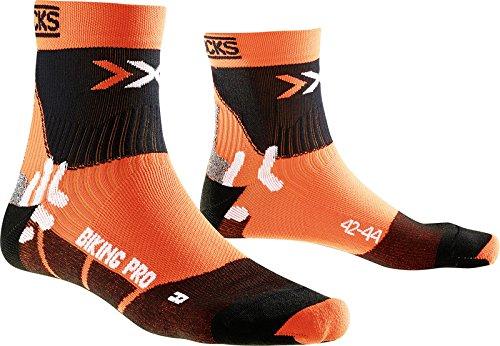 X-SOCKS Adulte Respirantes Biking Pro Multicolore Orange/Noir 35/38