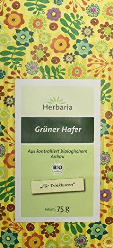Herbaria Grüner Hafer , 2er Pack (2x 75 g Tüte) - Bio