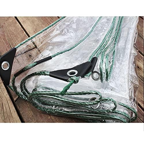 GZHENH Telo di Protezione Linea Top,Impermeabile Trasparente Terrazza Tessuto Ombreggiante Foro di Metallo Anti Ruggine Telone da Tenda,Personalizzabile (Color : Chiaro, Size : 3.5x5m)