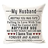 Andreannie Best Husband Gift My Husband I Love You Forever and Always Cotton Linen Throw Pillow Case Cushion Cover Home Office Decorative Square 18 X 18 Inches ?- ?- ¡ (Husband)
