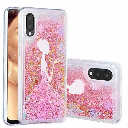 Funda para Samsung Galaxy A52 5G, para niñas y mujeres, con purpurina 3D, diseño de arena movediza, transparente, gel de silicona TPU, a prueba de golpes, para Samsung Galaxy A52 5G