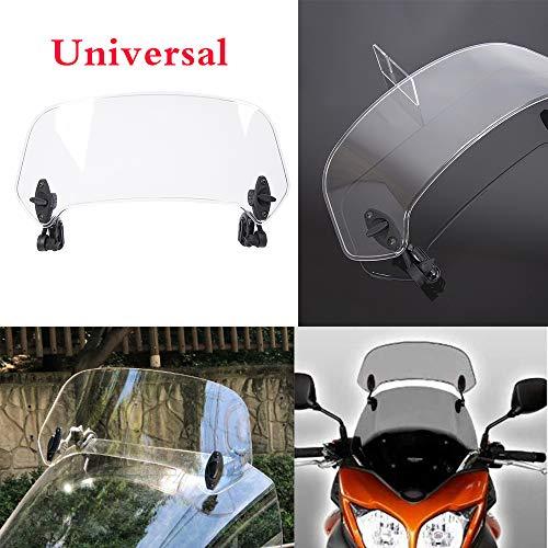 Motocicleta Deflector de aire del parabrisas del parabrisas del parabrisas de extensión de la pantalla universal para H-o-n-d-a D-u-c-a-t Y-a-m-a-h-a S-u-z-u-k-i T-r-i-u-m-p-h-m-p