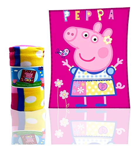 Peppa Pig Schweinchen Peppa Fleecedecke Kuscheldecke PP182026 110 x 140 CM