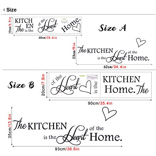 Rotumaty 'The Kitchen' Quote Wall Stickers Kitchen