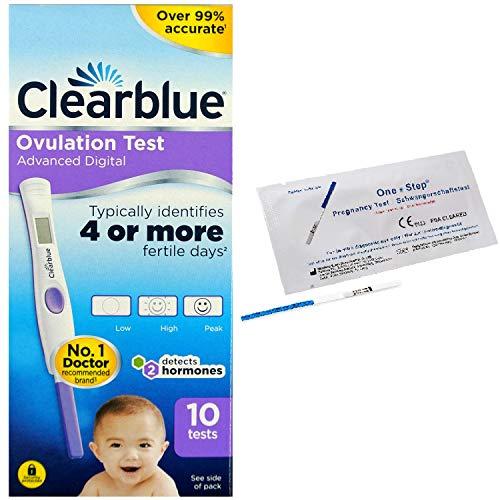 Clearblue Prueba de embarazo y pruebas duales digitales con indicador de hormonas