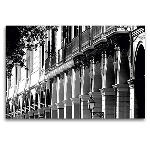 Premium Textil-Leinwand 120 x 80 cm Quer-Format Alte Hausfassaden in Palma de Mallorca | Wandbild, HD-Bild auf Keilrahmen, Fertigbild auf hochwertigem Vlies, Leinwanddruck von happyroger