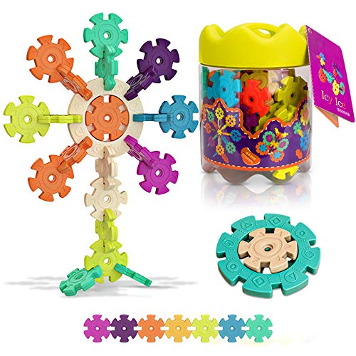 Kimiangel Building Blocks Snow Flakes Creative ABS Brain Flakes, Interlocking Thickened Oversized Snowflake Disc Set, Tested Safety, Construction STEM Toys for Both Boys and Girls