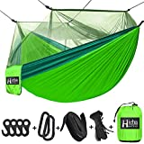 Hieha Camping Hammock with Mosquito Net, Portable Double & Single Tree Hammocks
