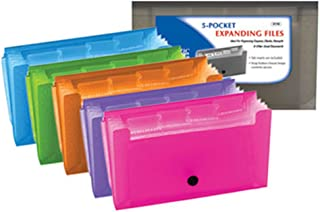 BAZIC 13-Pockets Coupon/Personal Check Size Expanding File for School, Home, or Office Organization