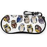 Owl Animal Big Eye Animal Night Estuche de gafas personalizadas Estuche de gafas para niñosNeoprene Zipper Soft Case Bike Sunglasses Case