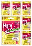 Interdentalbürsten Gelb von MARA EXPERT | 0,7mm ISO 4 mittel breit | 6 x 14 (=84) Interdentalbürsten | Ideal für feste Zahnspange | Mit Fluorid, Chlorhexidin und Minzbeschichtung, Für frischen Atem