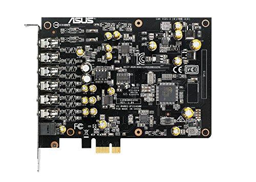 ASUS192kHz/24-bitハイレゾ音質の7.1PCIeゲーム向けサウンドカード、150ohmヘッドフォンアンプDAC、独自のEMIバックプレートXonarAE