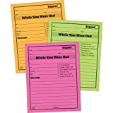 Adams While You were Out Pads, 4.25 x 5.25 Inches, Assorted Neon Colors, 50 Sheets/Pad (6-...