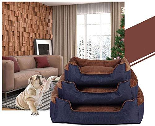 Hondenbed volledig afneembaar en wasbaar Nest voor katten Sofa voor honden Bed voor honden Orthopedische chaise longue Sofa in stijl Hoekbank met ademend stijf katoen voor katten (Kleur: bruin, Maat: L), S, BRON