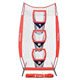 GoSports 8' x 4' Football Training Vertical Target Net, Improve QB Throwing Accuracy – Includes Foldable Bow Frame and Portable Carry Case