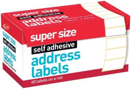 60 Large Self Adhesive Address Labels 90 x 120mm