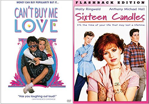 Sixteen Candles & Can't Buy Me Love... Fun Comedy 80's High School Teen movie Set Double Feature