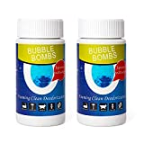 2 Pcs Pipe Dredge, Powerful Sink and Drain Cleaner Magic Bubble Bombs Fast Foaming Pipe Cleaner Powder Dredge Agent for Kitchen Toilet Pipeline Quick Cleaning Tool