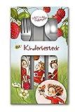 Erdbeerinchen Erdbeerfee. Kinderbesteck-Set (3-teilig, bedruckt)