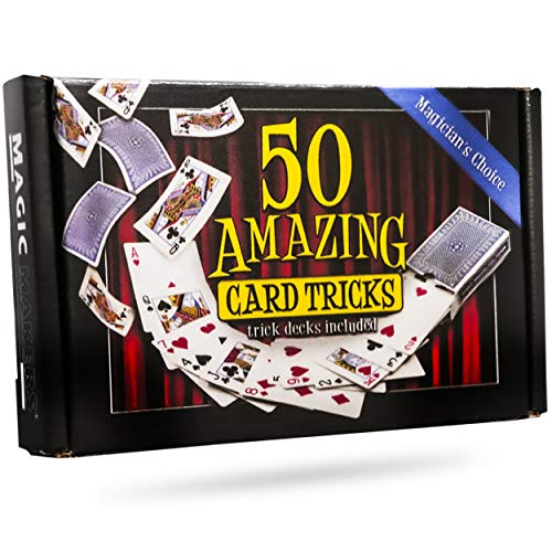 Magic Makers 50 Amazing Card Tricks Kit for All Ages with Trick Decks Included