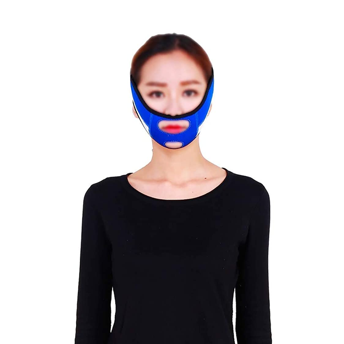 ハウスありそう救いファーミングフェイスマスク、スモールVフェイスアーティファクトリフティングマスク、口を調整して垂れ下がった肌を縮小滑り止め弾性ストレッチ包帯