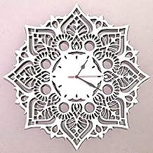 Orologio da parete Design Mandala Decorazione Arredo Artigianale Grande Dimensioni