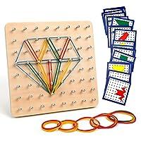 【Giocattoli Educativi】la nostra Geoboard è un ottimo strumento per insegnare forme semplici e concetti più avanzati come simmetria, angoli e frazioni, ecc. Eccellente anche per lo sviluppo di abilità motorie, concentrazione. I bambini possono miglior...
