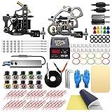 Wormhole Tattoo Kit Complete Tattoo Machine Kit Tattoo Gun Kit for Beginners Tattoo Power Supply 2 Tattoo Guns 10 Tattoo Ink 30 Tattoo Needles Tattoo Supplies for Tattoo Artists TK089