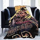 Yobesti Lebron_Raymone_James Basketball Full Size Ultra-Soft Micro Fleece Blanket, for Sofa Bedding Home Travel Camping Queen Size Man Woman Keep Warm Throw Blanket 80'X60'
