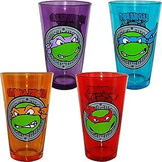 Teenage Mutant Ninja Turtle Face Pint Glass Set Of 4